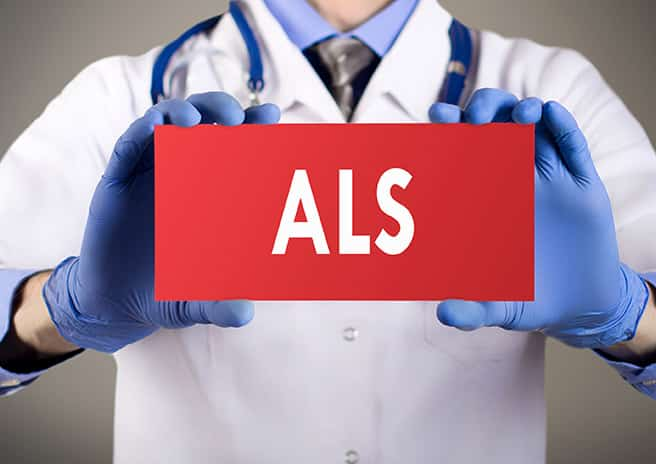 image of a sign for ALS approved drug Radicava